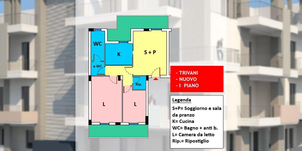 Appartamento 3 vani nuovo con possibilità box auto, Rutigliano – n4-71