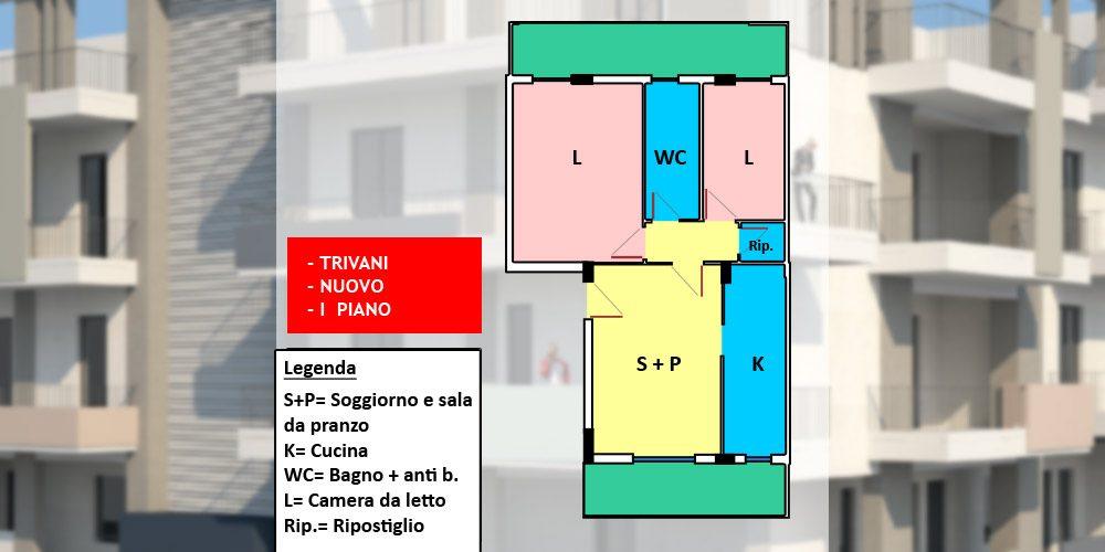 Appartamento 3 vani nuovo con possibilità box auto, Rutigliano – n5-72