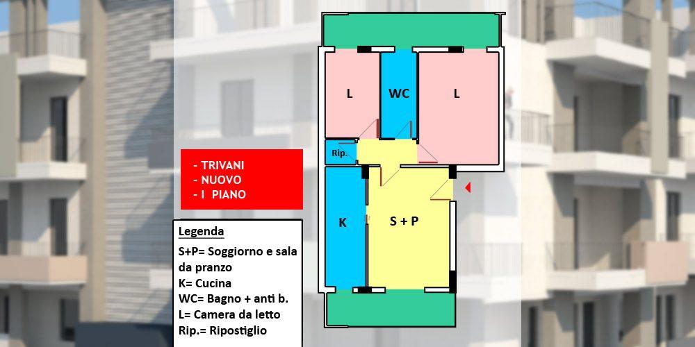 Appartamento 3 vani nuovo con possibilità box auto, Rutigliano – n6-73