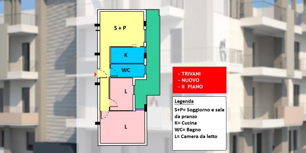 Appartamento 3 vani nuovo con possibilità box auto, Rutigliano – n9-75